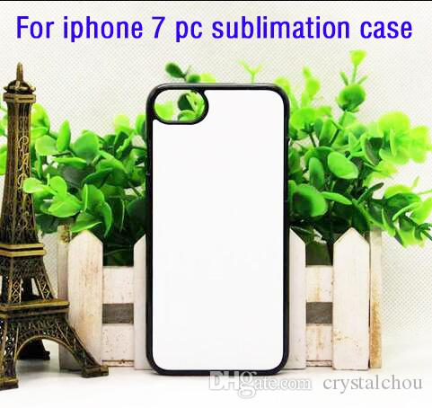 For iphone 7 8 2D DIY plastic sublimation blank case with insert and glue free shiping 100pcs/lot