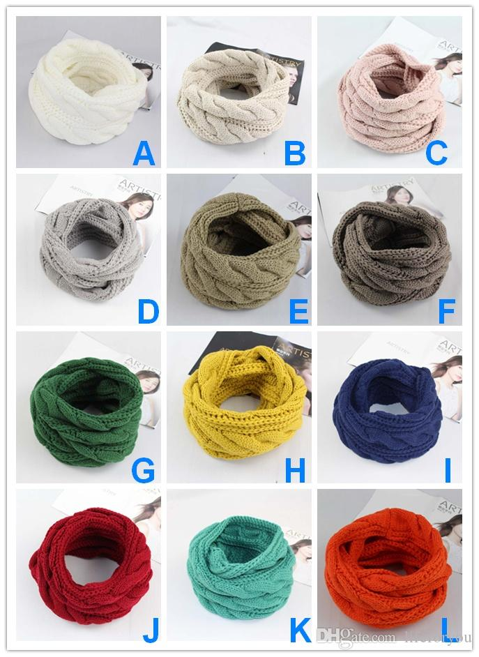 Hot Wholesale Knitted Scarf Snoods Kerchief Scarves women ladies Top High fashion Infinity Scarf muffler Bandanna Wrap Shawls