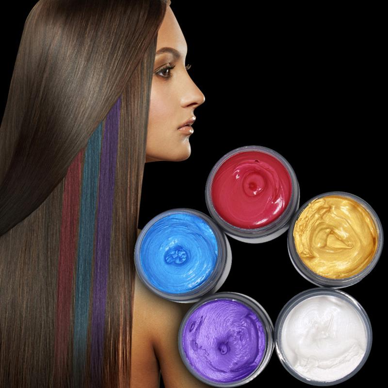 Hair Color Wax Hot Selling Beauty Fashion Styling Colored Hair Mud