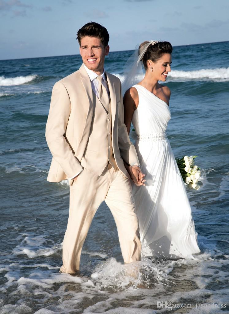High Quality Fashion Men'S Suits Champagne Groom Tuxedos Groomsmen ...