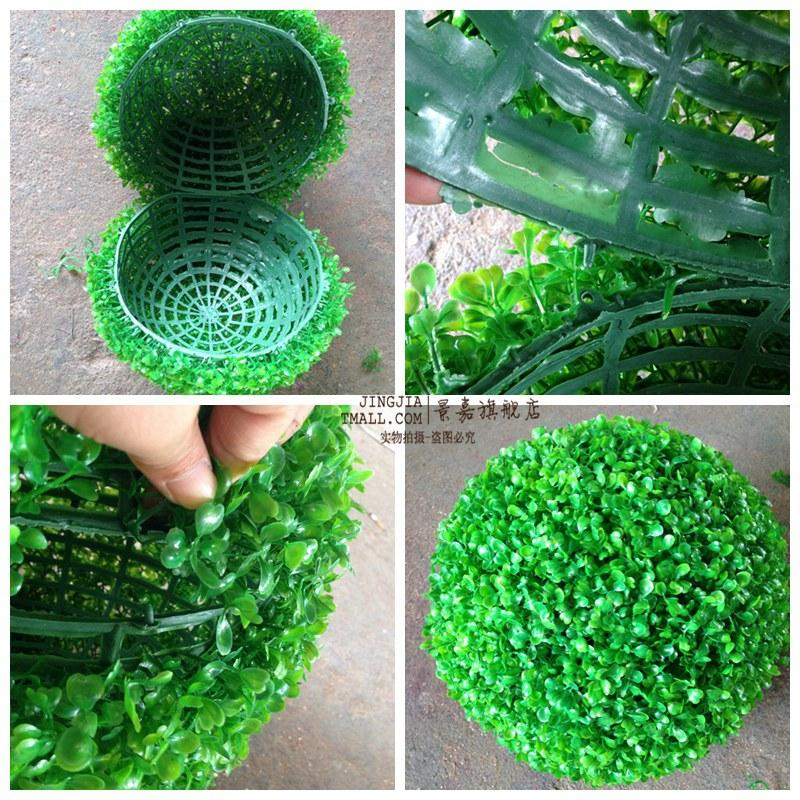 New Arrival Artificial Plastic Silk Fabric Green Grass Plant Kissing Ball For Garden Home Decor Wedding Christmas Bar Party Decoration