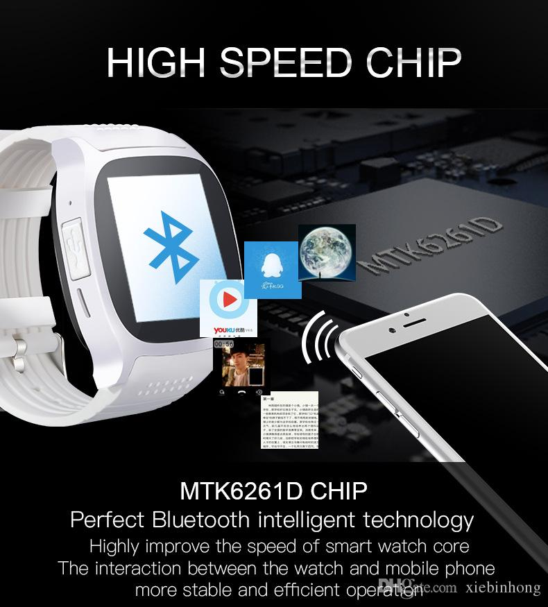 single-piece T8 Bluetooth Smart Watch With Camera Facebook Whatsapp Support SIM TF Card Call Smartwatch For Android Phone PK M26 DZ09