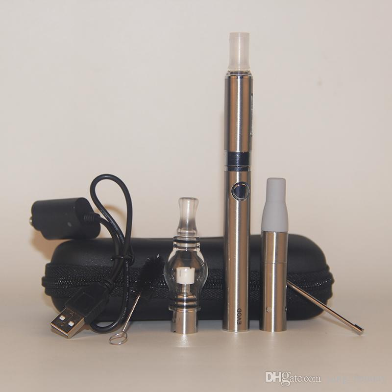 Top Selling eGo Wax Dab Pen Dome Kit with Dry Herb Wax Vaporizer Ago G5 X5 Clearomizer Mt3 Atomizers Evod Ego Battery