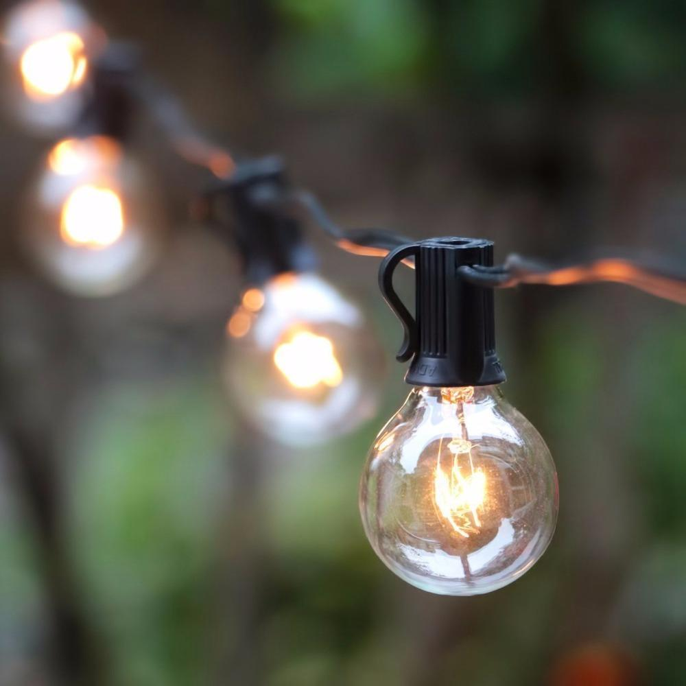 Wholesale G40 String Lights With 25 G40 Clear Globe Bulbs Listed For Indoor/ Outdoor Vintage Backyard Patio Lights Outdoor String Lights Industrial String ... & Wholesale G40 String Lights With 25 G40 Clear Globe Bulbs Listed For ...