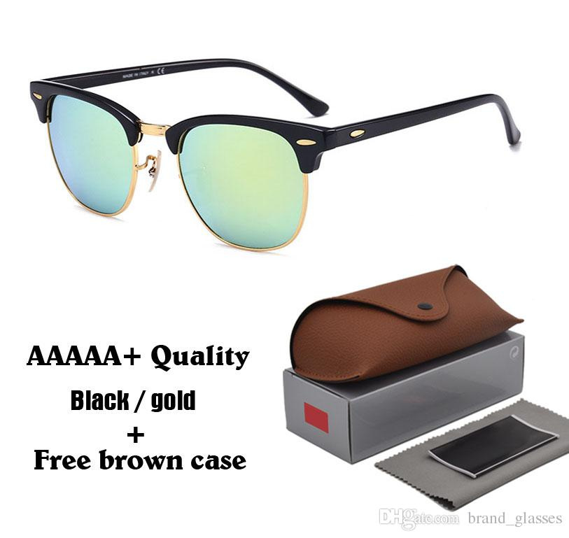 6f5e45f7c828 AAAAA+ Quality Glass Lens Metal Hinge Brand Designer Fashion Men Women  Plank Frame Sun Glasses Sport Vintage Glasses With Free Cases And Box  Foster Grant ...