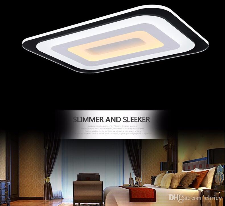 Moderne Plafonnier Led Ultramince Acrylique Plafond Rectangulaire Éclairage Salon Lumières Décoratives Abat-Jour Cuisine Lampe Lamparas