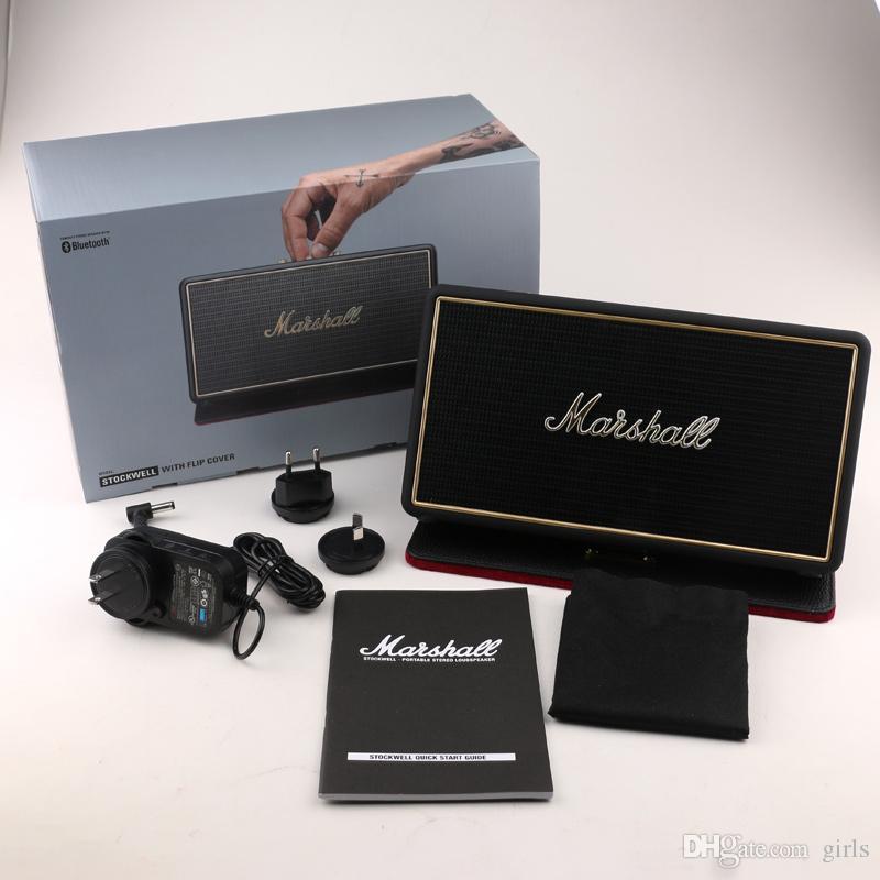 Marshall Stockwell Portable BlueTooth Lautsprecher mit Flip Cover Case Drop Shipping