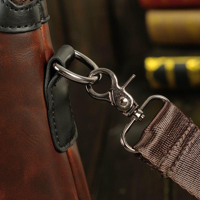 Mens Genuine Leather Briefcase Backpack Brand Designer Handbag Crossbody Messenger Business Vintage Briefcase College Work Carry Bags