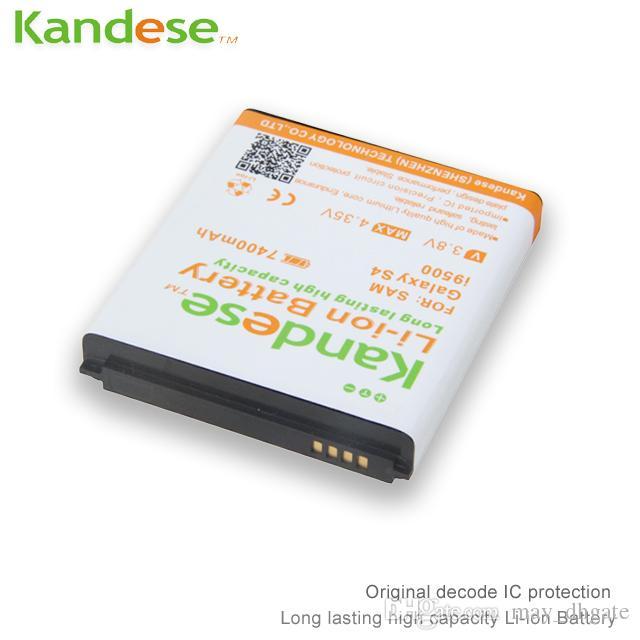 KANDESE Beyaz Siyah Mavi Kapı Kapak + 7400 mAh Büyük kapasiteli repalcement Samsung Galaxy S4 i9500 9500 Için Genişletilmiş Pil