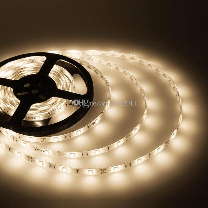 熱い販売5M DC12V 5050 SMD 30LL / M 150 LEDのエポキシ樹脂の防水IP65単色の適用範囲が広いLEDストリップライト送料無料Best2011