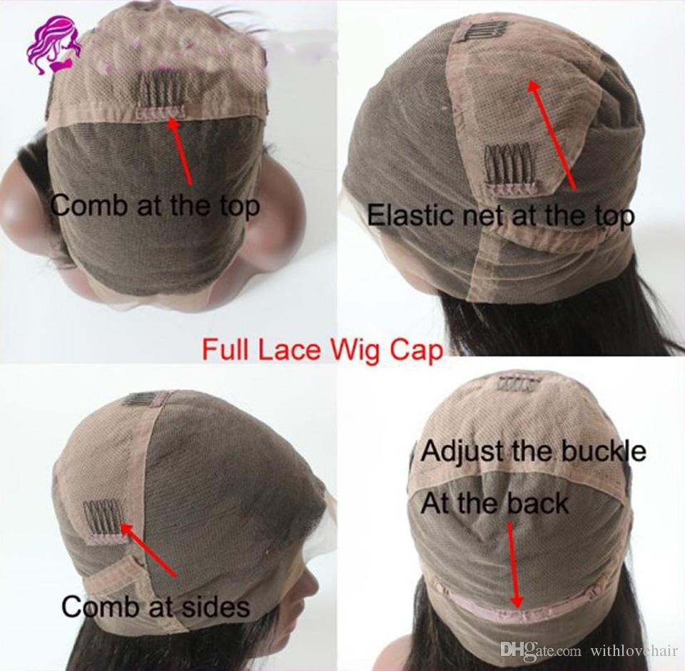 Density 150 Glueless Full Lace Human Hair Bob Wigs For Black Women Brazilian Virgin Hair Straight Short Bob Lace Front Bob Cut Wigs