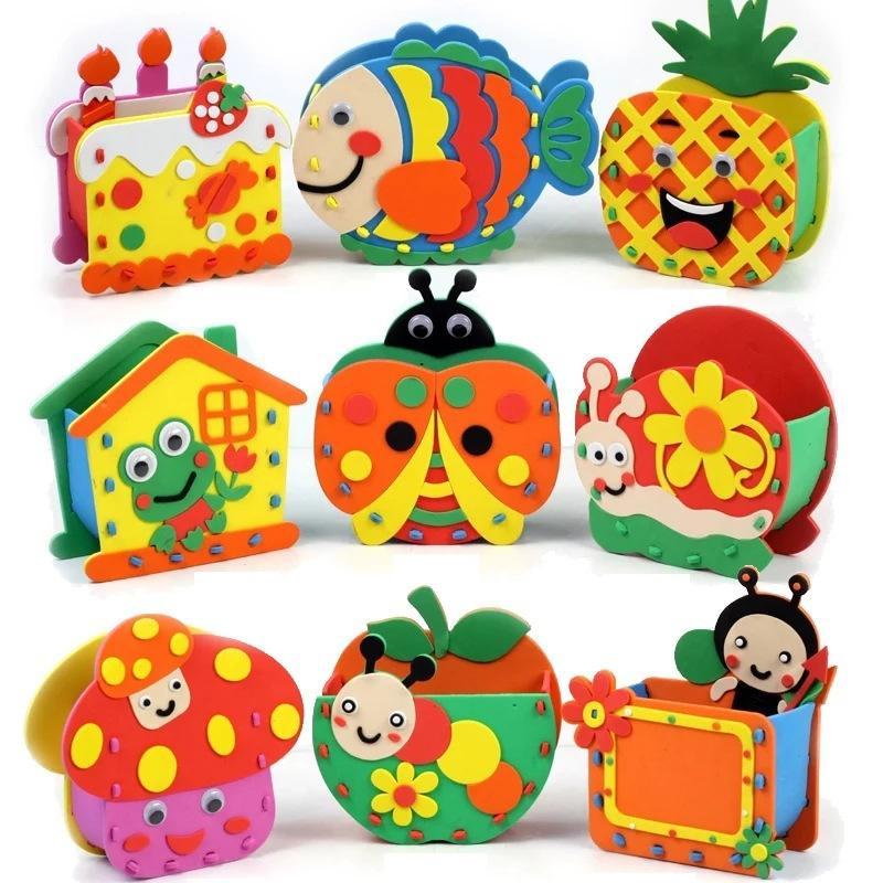 eva kids diy handmade material handmade toys props cartoon animal pen container children arts u crafts kits dy artificial in