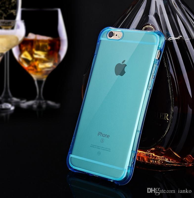 NEWThin Waist Design Air Cushion Explosion Proof Cellphone cases for iphone flexible Ultra thin TPU transparent phone Back Cover