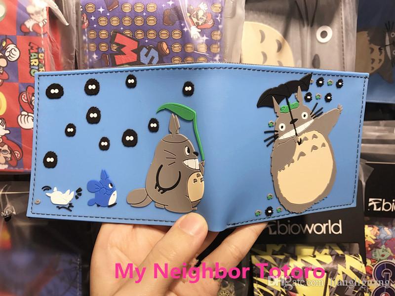 Japan Cartoon Designer Cat Wallet Studio Ghibli Kawii My Neighbor Totoro Purse For Girls 3D Picture Hayao Miyazaki Anime Wallets