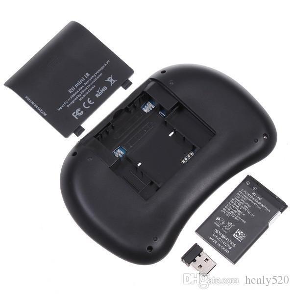 Rii البسيطة i8 يطير الهواء الماوس wifi اللاسلكية airmouse لوحة اللمس التحكم عن flymouse ل andriod 5.1 tv box epacket YM0092