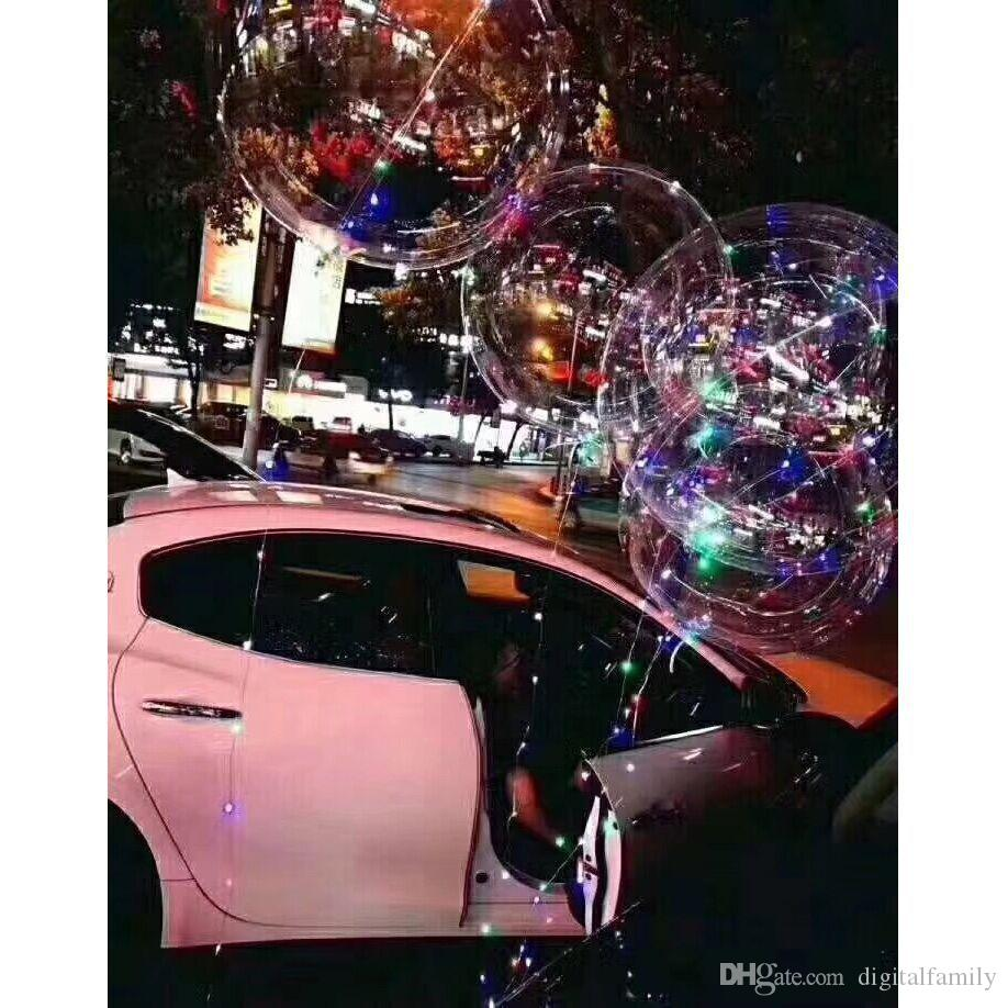New bobo ball wave led line string balloon light with battery for Christmas Halloween Wedding Party home Decoration Circular
