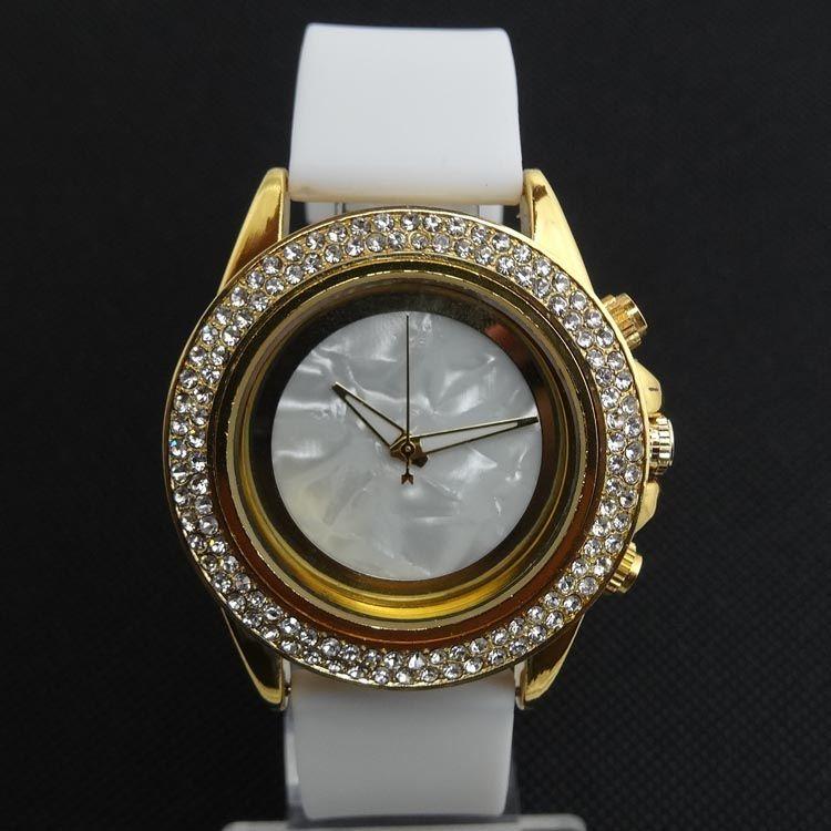Bling Crystal Women Girl Silica gel Quartz Wrist Watch Luxury Name Brand Women's Rhinestone Fashion M Sports Dress Wristwatches Style.
