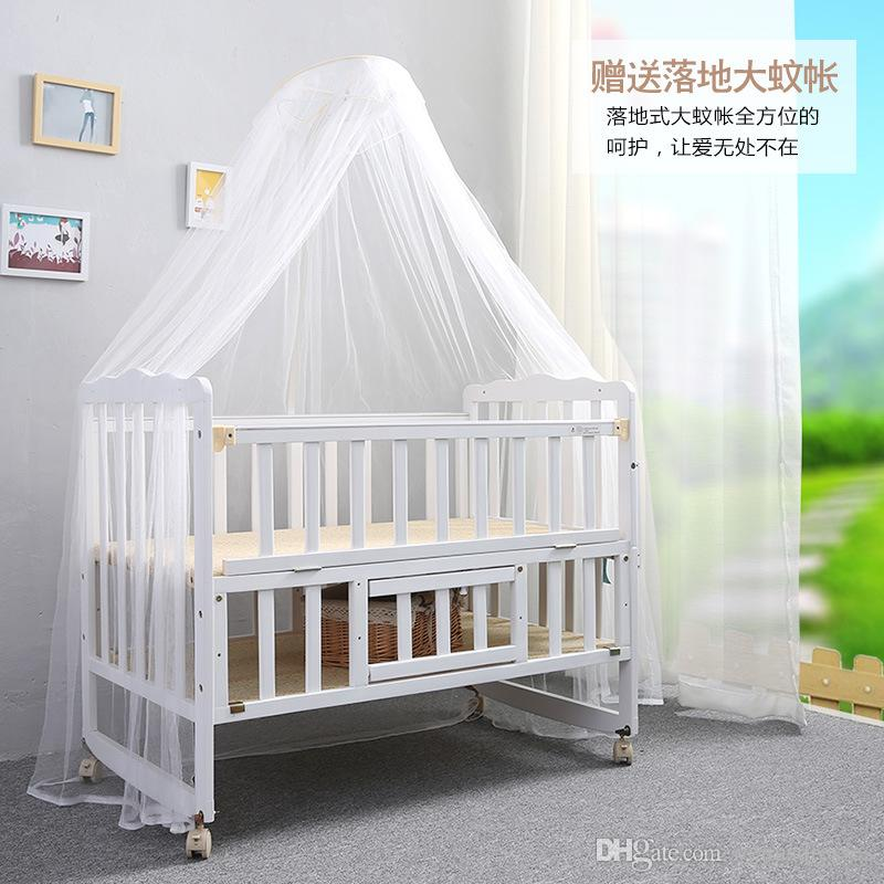 Beautiful 2016 New Folding Bed Multifunction Wood Crib Baby Bed Height Adjustable Swing Beds With Mosquito Nets Cribs Bedding Designer Baby Crib From Venusdresses Unique - Best of Best Baby Cribs Contemporary