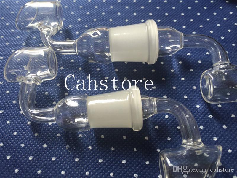 2016 Vetro Trough Domeless chiodi Maschio e femmina 18,8 mm / 14,5 mm Trough Glass nail Domeless Glass bange Glass Bong
