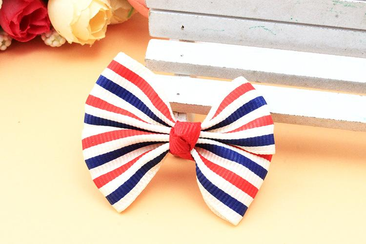 Pet accessories handmade cloth bowknot Korean Dog accessories wholesale pet hairpin mix color pet grooming