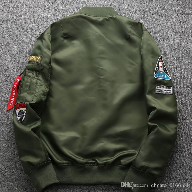 2017 Sonbahar ve kış erkek ceket Yeni Askeri tarzı Hava Kuvvetleri Bir pilot ceket erkek Büyük boy erkek ceket.
