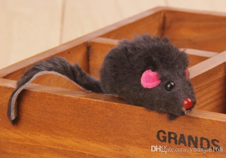 Pele de coelho Falso Rato Pet Cat Brinquedos Mini Engraçado Jogando Brinquedos Para Gatos Gatinho G1047