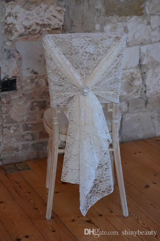 New Arrival Lace Crystal Romantic Beautiful Classic Wedding Supplies Wedding Events Beautiful Chair Cover Chair Sash