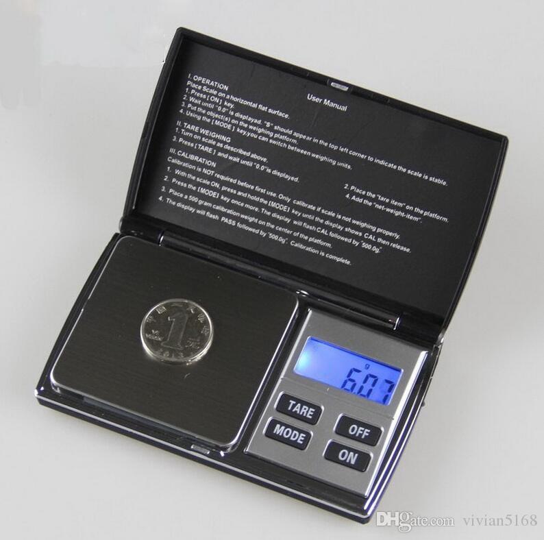 200gx0.01g Yüksek Doğruluk ile Mini Taşınabilir Dijital Elektronik Takı Cep Ağırlık Ölçeği perakende kutusu 1000gx0.1g Ücretsiz Kargo