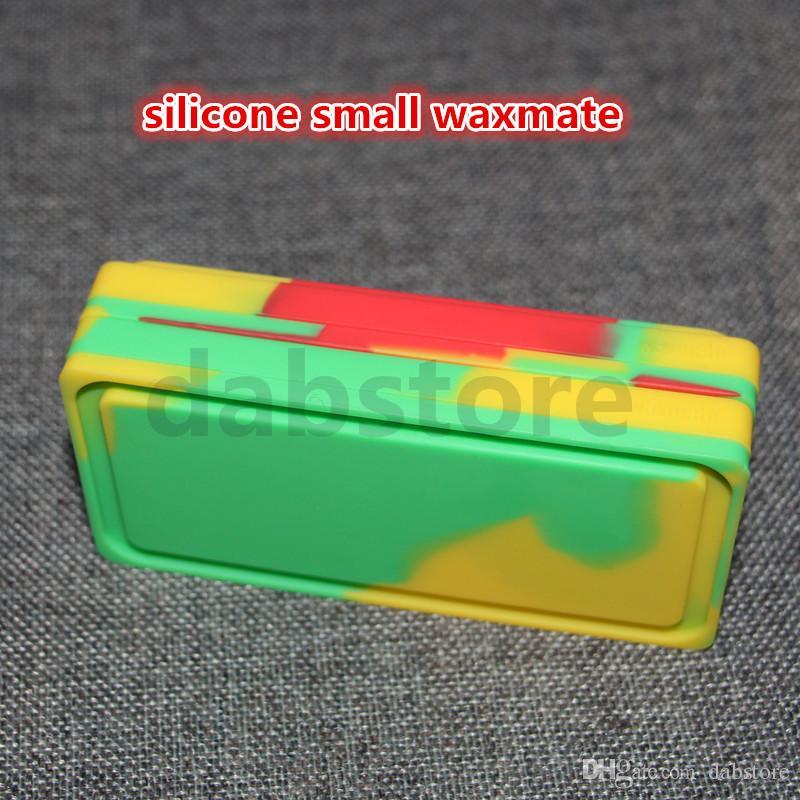 2016 großhandel Nonstick SILICONE Wachsbehälter 6 in 1 titan nagel silikon kleine wachs mate pad fit glasrohre GROßE VERKAUF