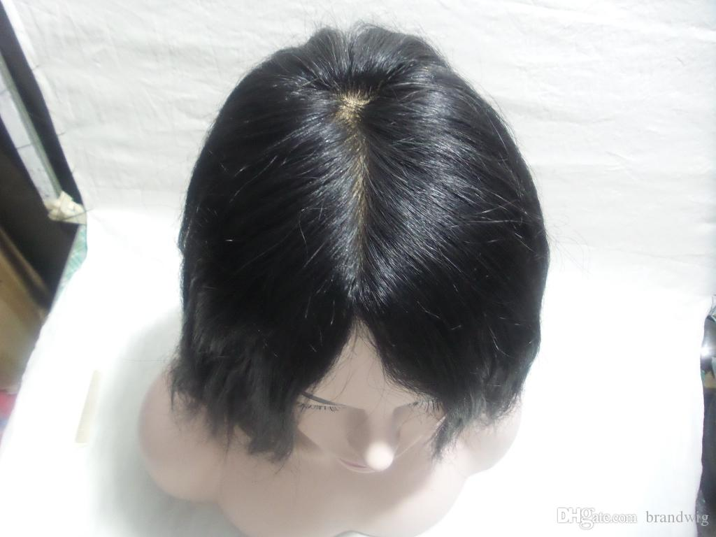 150% Density None Lace Long Black Wigs Sliky Straight Hair Style Full Lace Human Hair Wigs With Bangs Glueless Full Lace Wig Good Quality