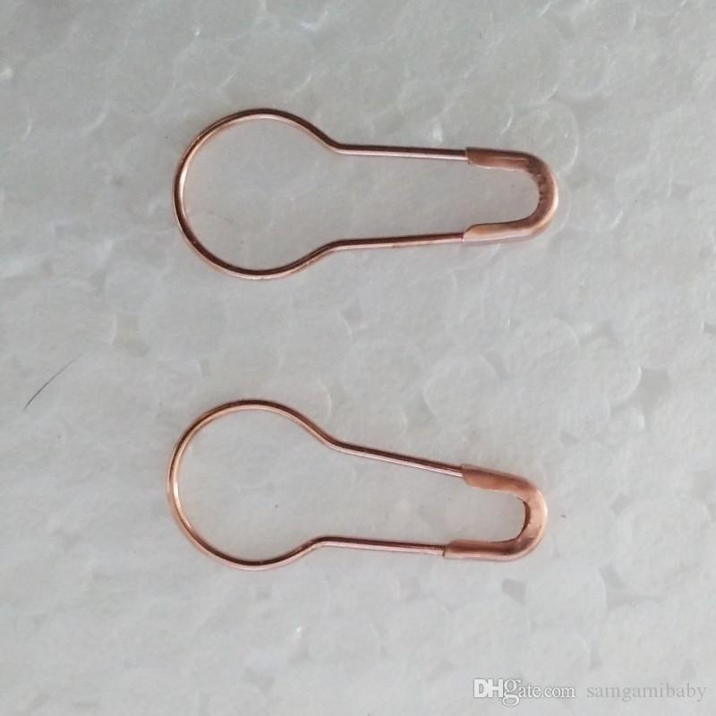 NEW rose gold bulb shaped safety pin for DIY craft, hang tags, jewelry making, high quality brass material