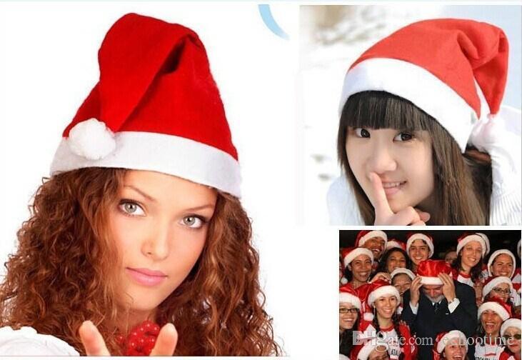 Echootime 2000 piezas rojo Santa Claus sombrero Ultra suave felpa Navidad Cosplay sombreros decoración de Navidad adultos fiesta de Navidad sombreros suministros