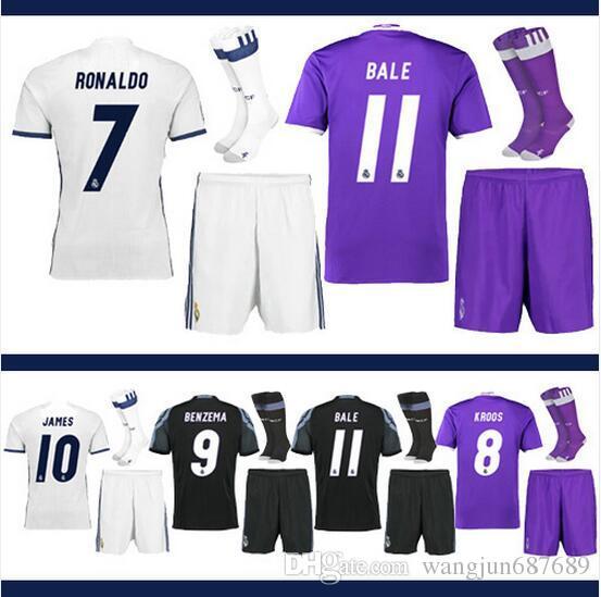 innovative design 277d2 84126 Real Madrid 2016-2017 lowest 17 highest quality Cristiano Ronaldo Uniform  Kits Marcelo Camisetas de futbol Modric Kroos Sergio Ramos Bale As