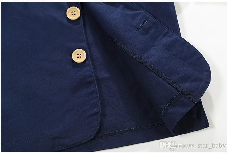 Herbst Schöner Junge Outfits Set 3 stücke Jacke + Bowtie Hemd + Hosen Gentleman Anzug Outfit Kinder Outdoor Set K7498