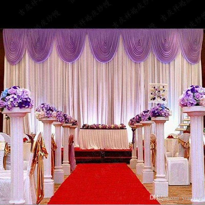 Hot Sale Wedding Backdrop Curtain Beautiful Wedding Decorations 6m*3m  Background Scene Wedding Decor Supplies High Quality Ice Silk Teal Wedding  Decorations ...