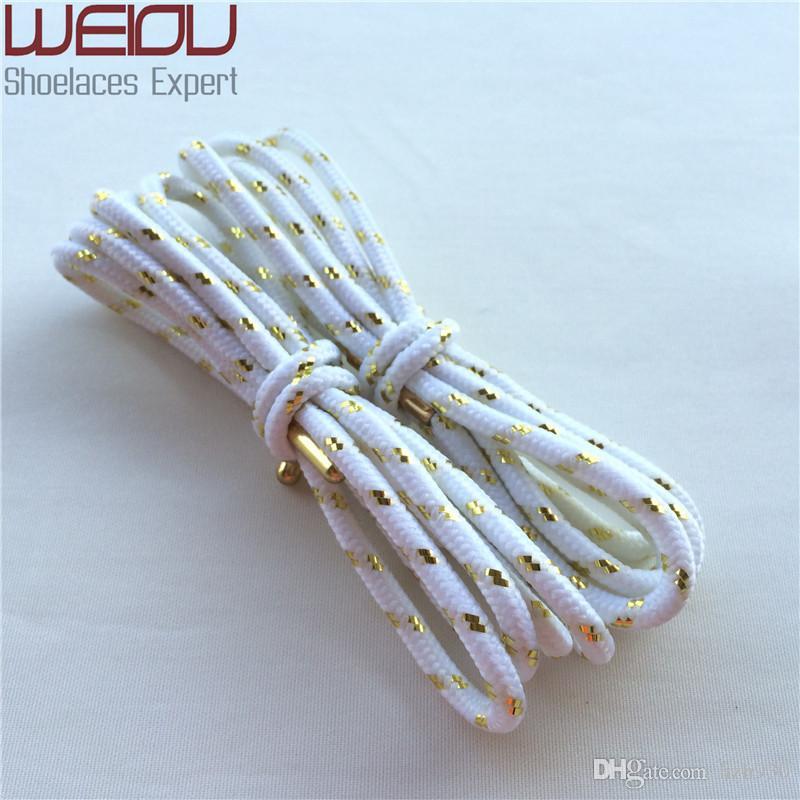 30 çift / grup Resmi Weiou Serin altın Sparkle Metalik Glitter Ayakabı elbise ayakkabı bağcıkları Mandalı için Spor dizeleri DHL ÜCRETSIZ KARGO