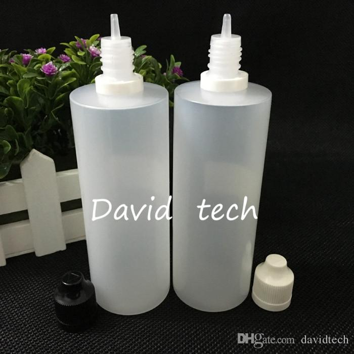 Big stock 120ML Dropper Bottle with childproof & tamper proof cap LDPE lock needle tips e cig bottle Used Stock Liquid