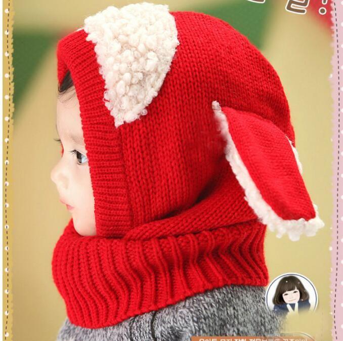 크리스마스 선물 아기 모자 Pom 니트 원사 따뜻한 모자 소녀 소년 비니 겨울 유아 아이 소년 소녀 따뜻한 크로 셰 뜨개질 모자 스카프 스카프