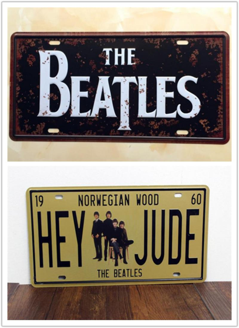 2017 the beatles hey jude metal tin sign license plate man cave