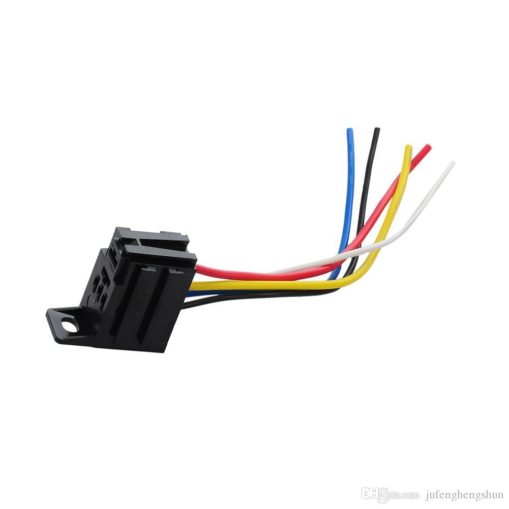 2020 5  Car Auto Relay Socket 12v 20a 30a 5 Pin 5 Wire Kit