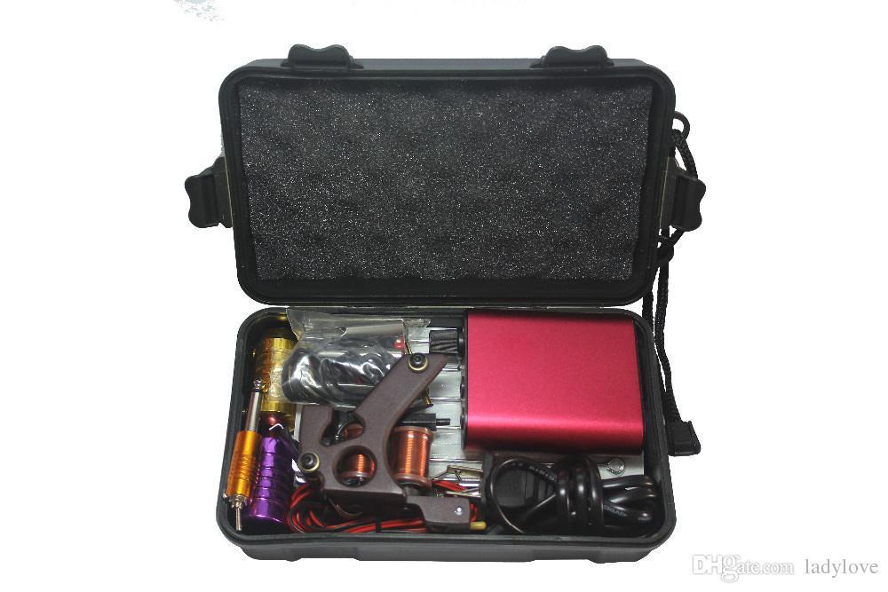 Gros-Tattoo Kit Professional avec la meilleure qualité Machine de maquillage permanente pour l'équipement de tatouage Cheap Red Tattoo Machines