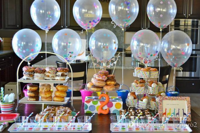 Confeti Globos Llenos Fiesta de Calidad de Helio Boda San Valentín Decoración de Cumpleaños ronda ballon claro Decoración de Hen 36 '' / 18 '' / 12 '' juguete infantil