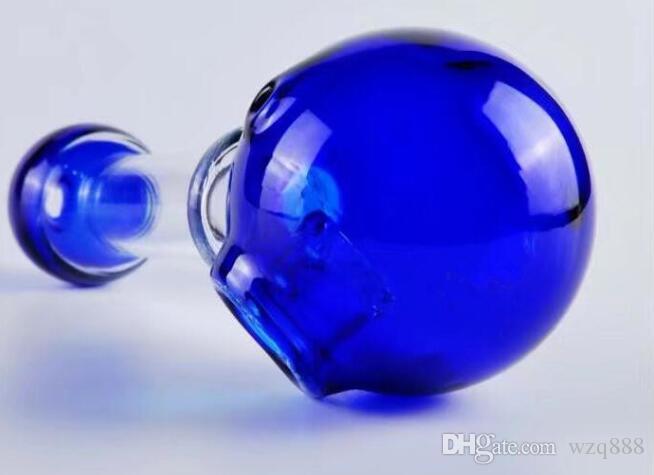 Duas cores rodada cabeça da bolha em forma, Atacado vidro Bongs, vidro Cano de água, Hookah, Acessórios de Fumo,