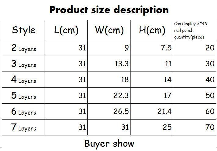 5 Tiers Cosmetic Makeup Nail Polish Varnish Display Stand Rack Holder Jewelry Acrylic Packaging Organizer Storage Box