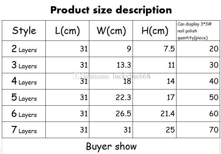 High-grade Ratio of the First Nail Polish Display Holder 7 Layers Assembly Nail Polish A Variety of Cosmetics