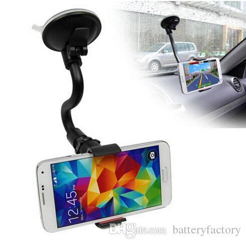 Soporte para coche, brazo largo Universal parabrisas Tablero para teléfono celular Soporte para coche con ventosa fuerte y abrazadera X para iPhone 6 6s DB-020