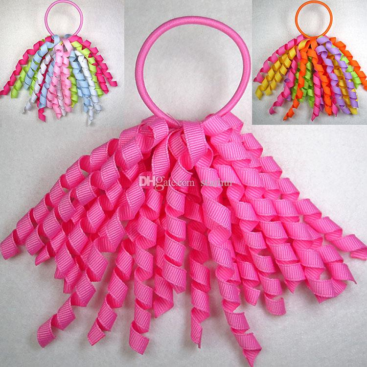 Rubber Band Hair Accessories Girls Ponytail Holders Streamer Mix Color  Corker Hair Bows Hair Ties Hair Bobbles Hair Accessories WX H06 French Hair  ... 6629206d07a