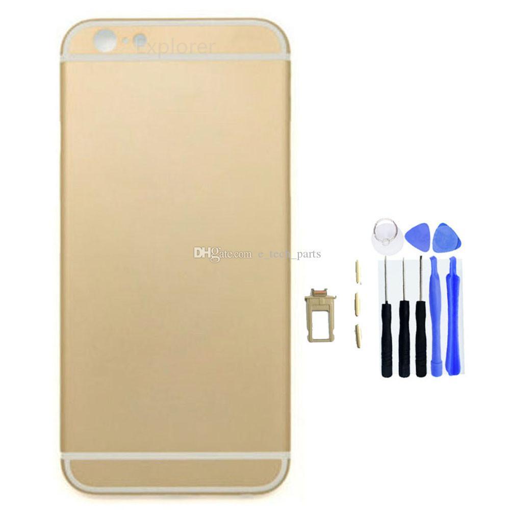 para iPhone 6 6g mais 5,5 4,7 polegadas Complet Porta Habitação total Voltar bateria Caso capa de substituição + ferramentas /