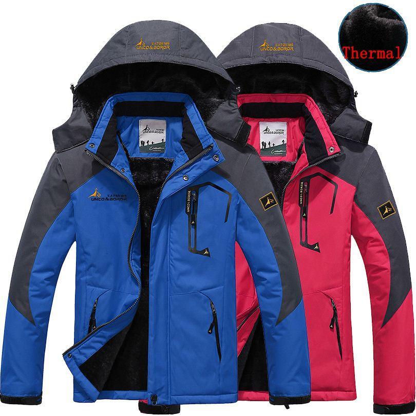 78ce89d719080 2019 Jacekts Men Women Jacket Winter Thermal Coat Jaqueta For Men Fahsion  Velvet Jackets Male Outerwear Chaqueta Waterproof Windproof Couples From ...