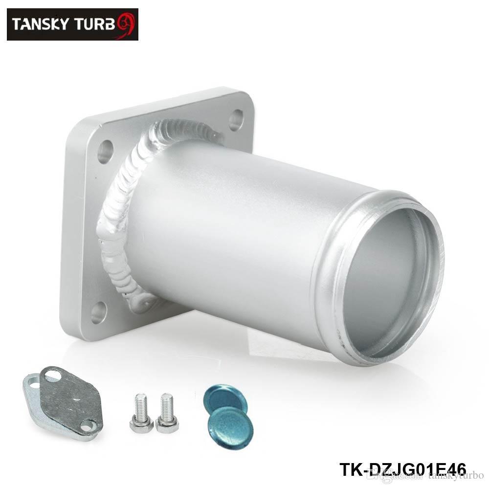 TANSKY - Алюминиевый выхлопной комплект системы рециркуляции выхлопных газов для глушения байпаса для BMW E46 318d 320d 330d 330xd 320cd 318td 320td TK-DZJG01E46